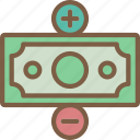 hr, human, loss, profit, resources icon