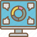 breakdown, graph, hr, human, resources icon
