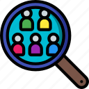 candidate, hr, human, resources, search icon