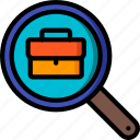 hr, human, job, resources, search icon