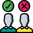 candidate, decisions, hr, human, resources icon