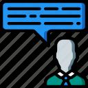 employee, feedback, hr, human, resources icon