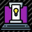 hr, human, idea, online, presentation, resources icon