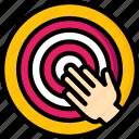 goals, hr, human, reaching, resources icon