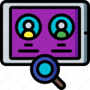 hr, human, recruitment, resources, search icon
