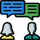 discusion, hr, human, resources, staff icon