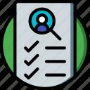 checklist, hr, human, resources icon