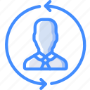 hr, human, resources, rotate, staff icon