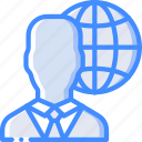global, hr, human, resources icon