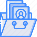 hr, human, portfolio, resources icon