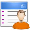contact, list, user, user chart icon