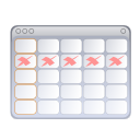 and, calendar, tasks icon
