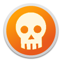 danger, emblem, skull icon