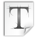 application, font, ttf icon
