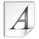 a, font, letter, type icon