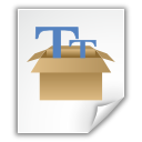 fonts, package icon