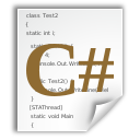 csharp, text, x icon