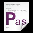 pascal, text, x icon