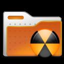 folder, burn, radioactive icon