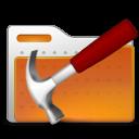 folder, hammer, tool icon