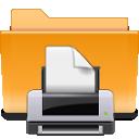 folder, kde, print icon