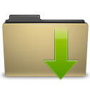 arrow, down, download, folder icon