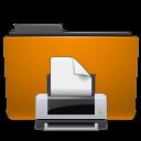 folder, orange, print icon