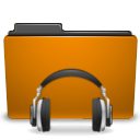 folder, orange, sound icon