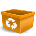 empty, recycle bin, trash icon