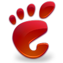 gnome, here, red, start icon