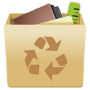 full, garbage, recycle bin, trash, trashcan icon