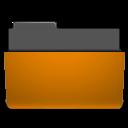 folder, open, orange icon
