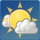 sun, weather, few, clouds