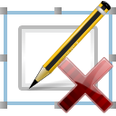 delete, pen, signature icon