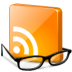 feed, glasses, news, reader, rss, smart icon