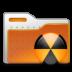 burn, folder, radioactive icon