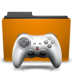 folder, games, orange icon