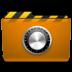 folder, locked, orange, security icon