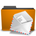 folder, mail, orange icon