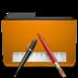 folder, orange, txt icon