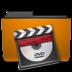 folder, orange, video icon