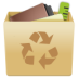 full, garbage, recycle bin, trash, trashcan icon