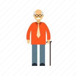 citizen, grandfather, male, man, old, people, senior icon