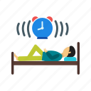 bed, lying, relaxed, rest, sleep, sleeping icon