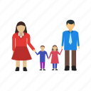 beautiful, family, generation, happy, people, portrait, together icon
