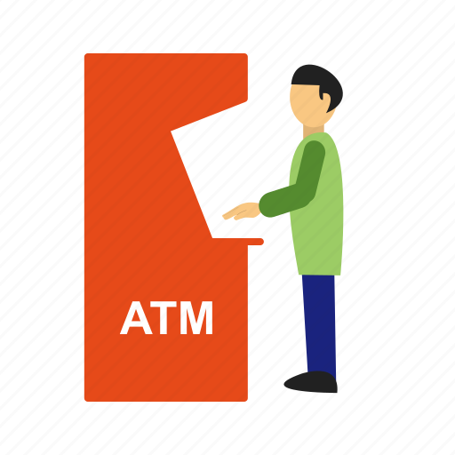 atm, card, cash, money, receipt, transaction, withdraw icon