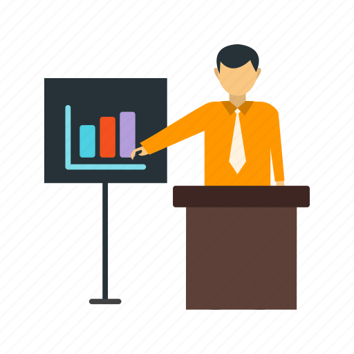 business, businessman, executive, presentation, presenting, training icon