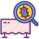 contamination, germs, hygiene, surface icon