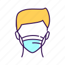 breathing, faceless, man, mask icon