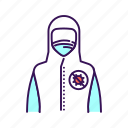 hygiene, medical, protective, suit, worker